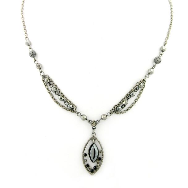 """18"""" Copper-Tone Topaz Layer Necklace~42764"""