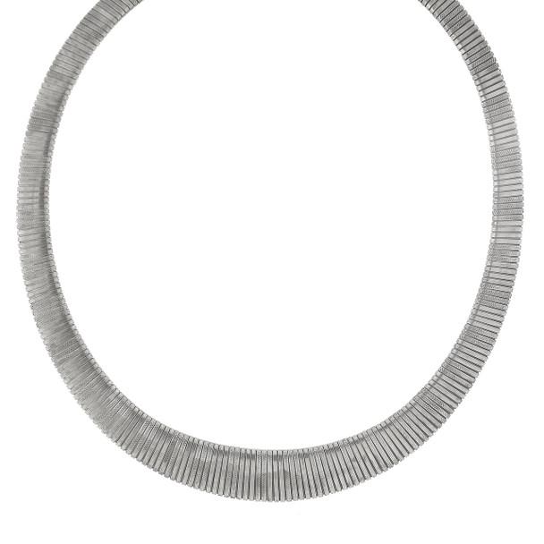 """18"""" Adjustable Silver-Tone Collar Necklace~41738"""