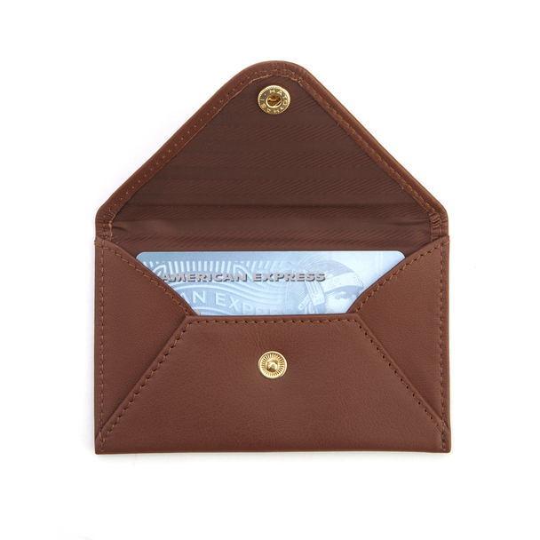 Genuine Leather Envelope Card Case~425-5