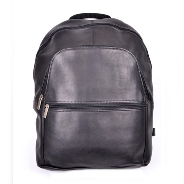 "ROYCE 15"" Laptop Backpack in Colombian Genuine Leather~VLBP-BLK"