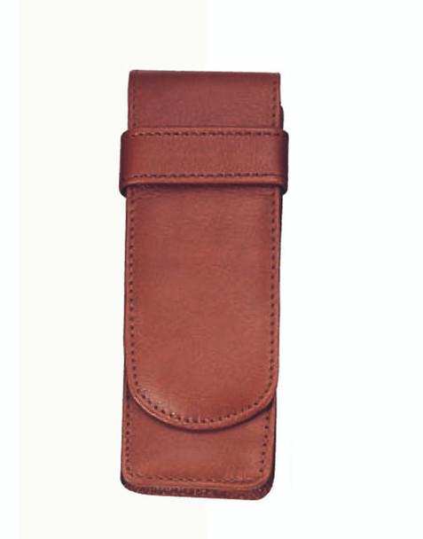 ROYCE 2 Slot Double Fountain Pen Case in Genuine Leather~913-5