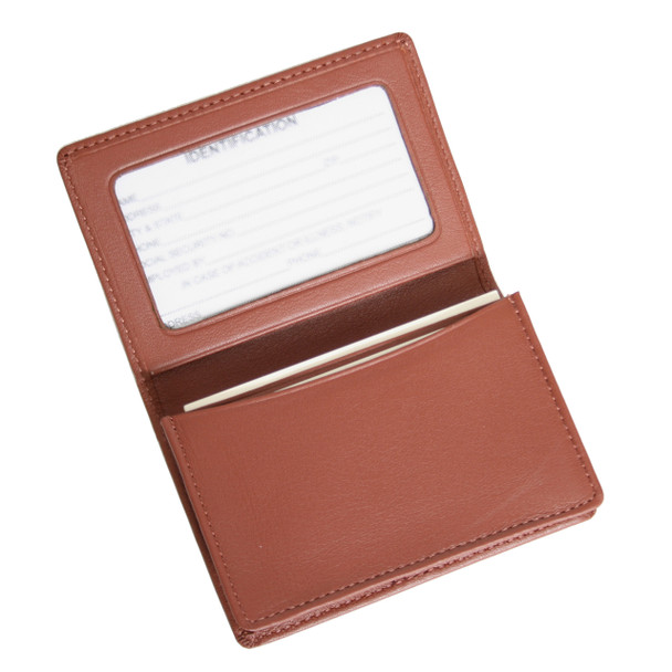 ROYCE Executive Business Card Case with ID Display in Genuine Leather~409-5