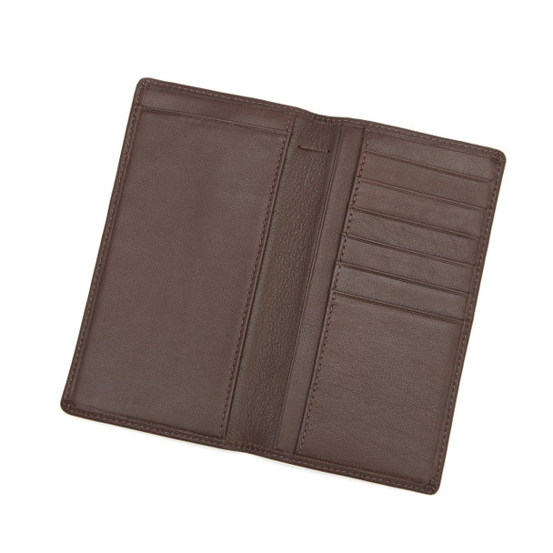 ROYCE Executive Checkbook Holder and Credit Card Wallet in Genuine Leather~145-5
