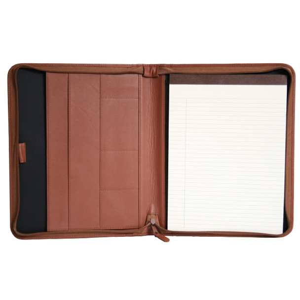 ROYCE Executive Convertible Zippered Writing Portfolio Organizer in Genuine Leather~748-5