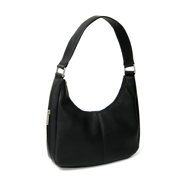 ROYCE Hobo Everyday Bag in Colombian Genuine Leather~VLHBBG-BLK