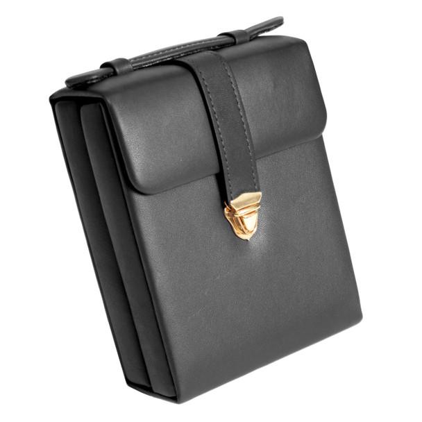 ROYCE Luxury Suede Lined Jewelry Case~924-BLACK-10