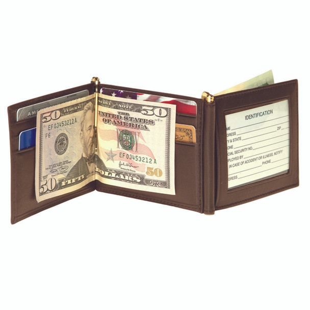 ROYCE Men's Double Money Clip Credit Card Wallet in Genuine Leather~113-5