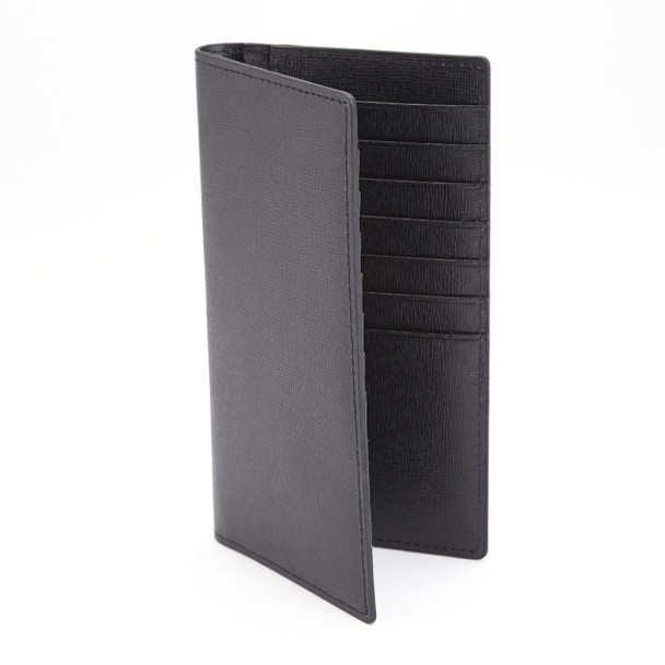 ROYCE RFID Blocking Bifold Credit Card Wallet in Saffiano Genuine Leather~RFID-146-BLK-2