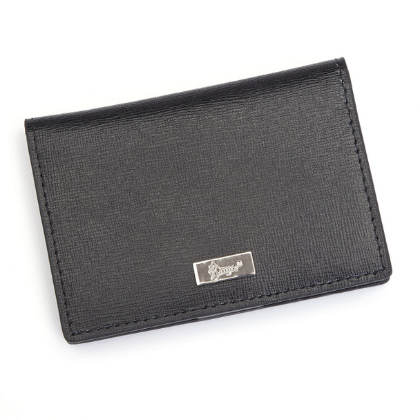 ROYCE RFID Blocking ID Card Case Wallet in Saffiano Leather~RFID-421-BLK-2