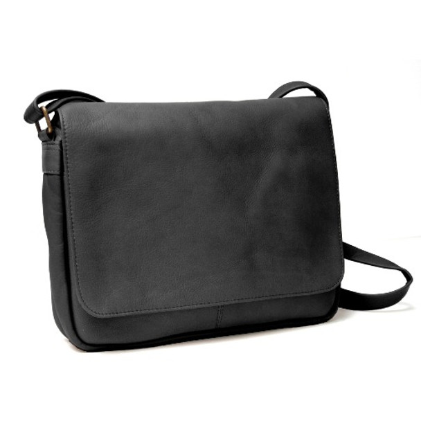 ROYCE Shoulder Bag in Colombian Genuine Leather~VLSHBFL-BLK