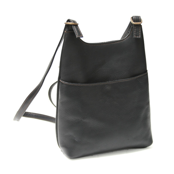ROYCE Sling Backpack in Colombian Genuine Leather~VLSLBP-BLK