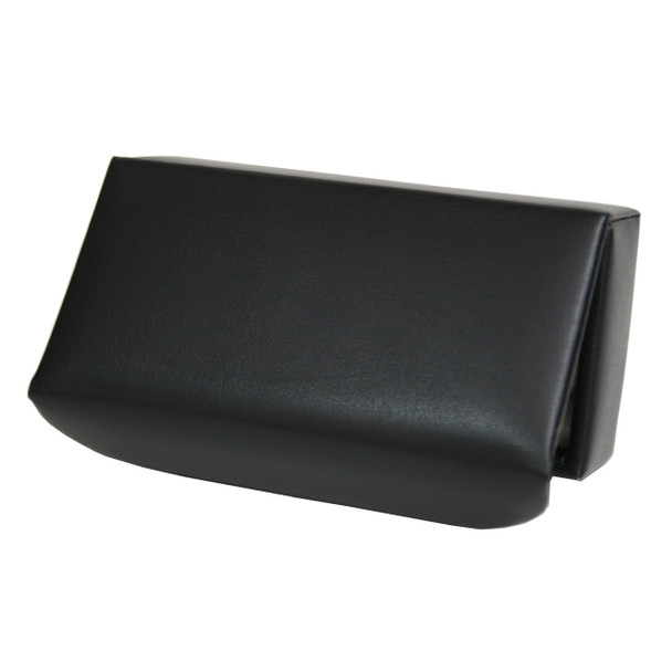 ROYCE Suede Lined Travel Cufflink Storage Box in Leather~944-BLK-8