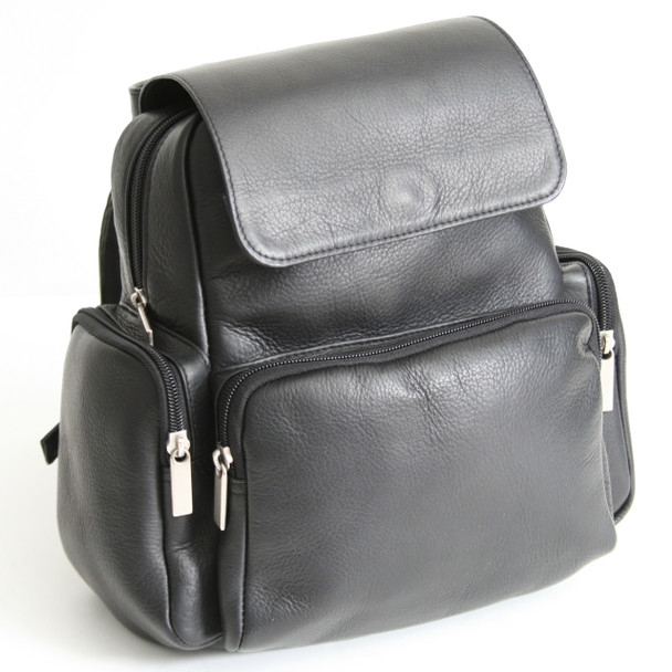 ROYCE Tablet iPad Backpack in Colombian Genuine Leather~699-BLK-VL