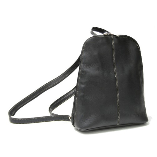 ROYCE Zip-Around Sling Backpack in Colombian Genuine Leather~VLZSLBP-BLK