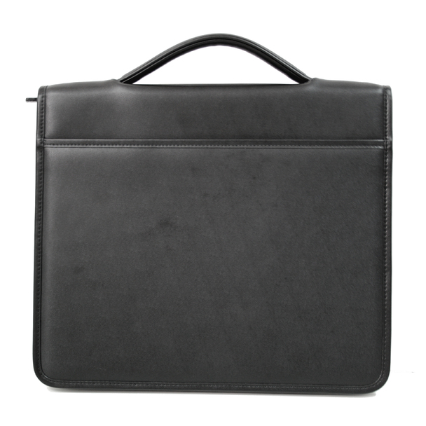 ROYCE Zip-Around Tablet Writing Portfolio Organizer in Genuine Leather~741-BLK-6