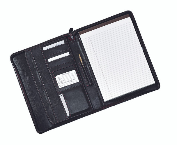ROYCE Zip-Around Writing Portfolio Organizer~756-BLACK-8