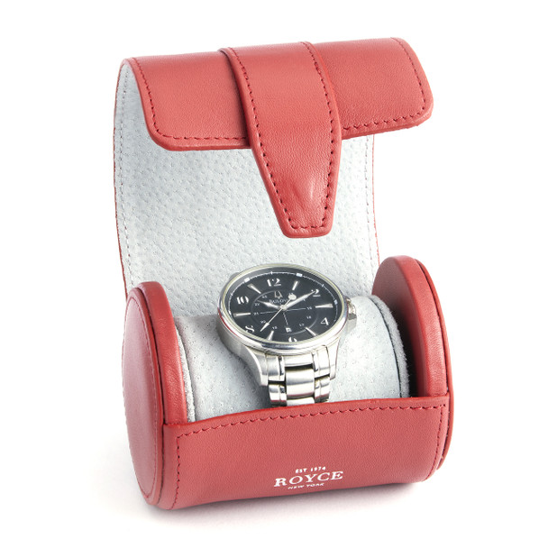 Single Watch Travel Roll in Genuine Leather~933-5-2