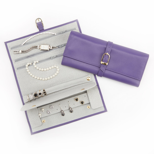 Suede Lined Jewelry Travel Roll~915-5
