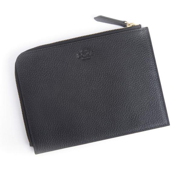 Travel Organizer Pouch in Genuine Leather~768-BLACK-4