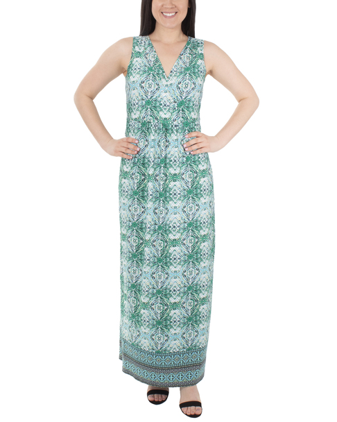 Sleeveless V Neck Maxi Dress~Jade Villaret*MITD3905