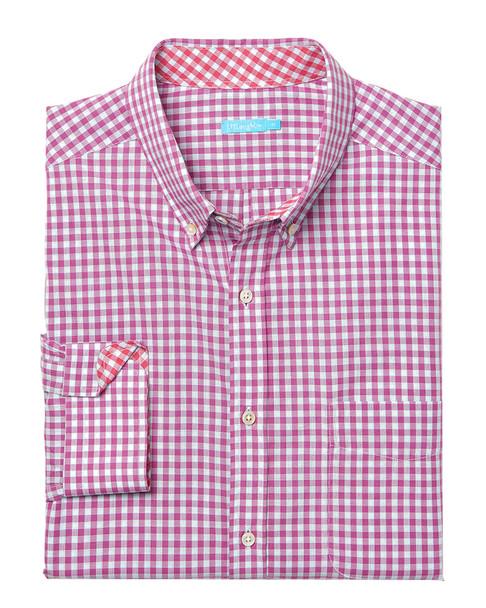 J.McLaughlin Carnegie Gingham Woven Shirt~1010178268