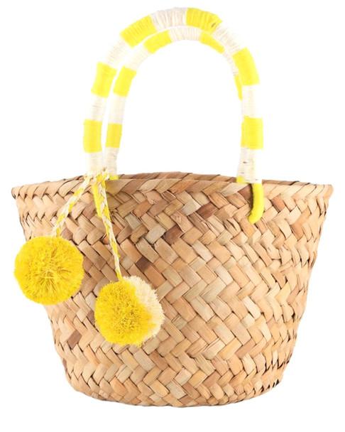 Kayu Mini St Tropez Miniature Woven Straw Tote~11601841750000