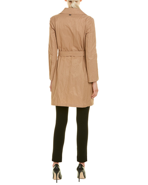 Cinzia Rocca Icons Crinkled Belted Trench Coat~1411032702