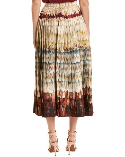 Valentino Pleated Wool & Silk-Blend Midi Skirt~1411115025
