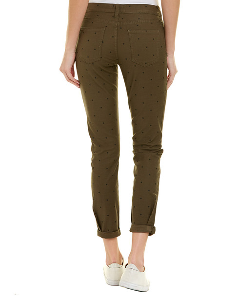 Current/Elliott The Easy Stiletto Rural Green Polka Dot Skinny Leg~1411172996