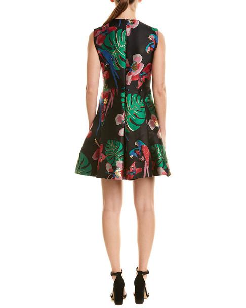 Valentino Godet Tropical Dream Silk-Blend A-Line Dress~1411440046