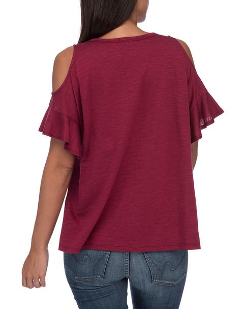 Bobeau Carlie Cold-Shoulder T-Shirt~1411630713