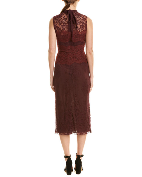 Valentino Lace Silk-Blend Midi Dress~1411682354