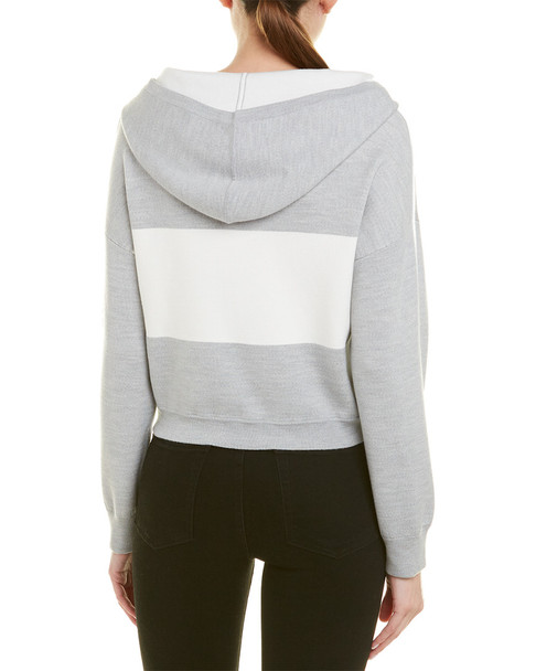 alice + olivia Kyle Cropped Wool-Blend Hoodie~1411698607