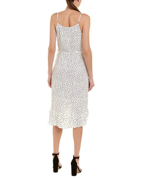 Aiden Wrap Front Midi Dress~1411716859