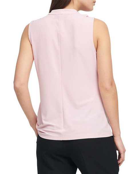 Donna Karan Matte Jersey Center-Knot Top~1411911177