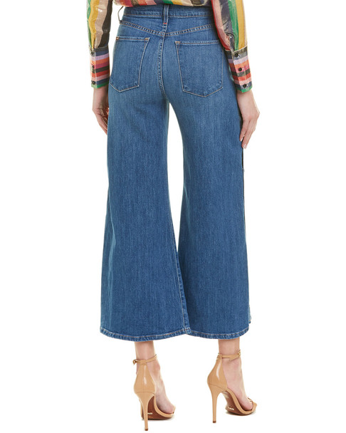 alice + olivia Gorgeous French Blue High-Rise Wide Crop~1411918634