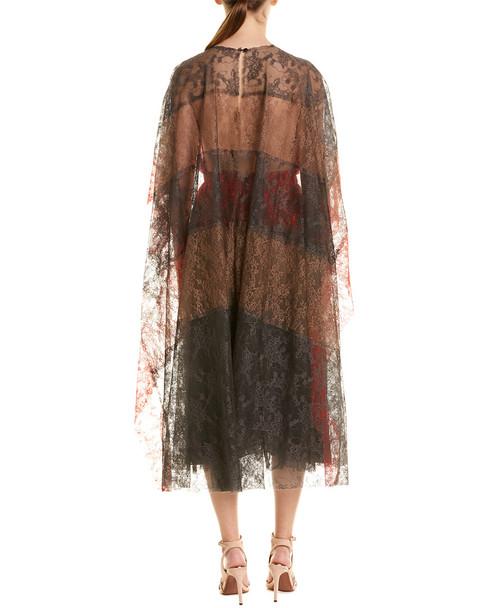 Valentino Lace Silk Midi Dress~1411955978