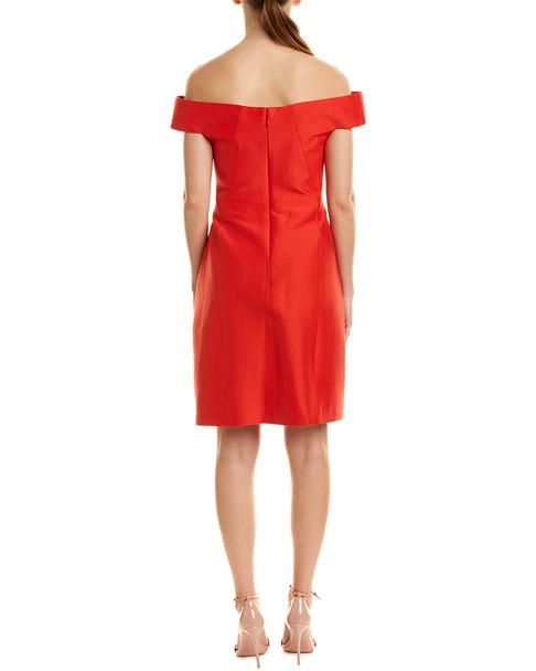 Halston Heritage Silk-Blend A-Line Dress~1452173688