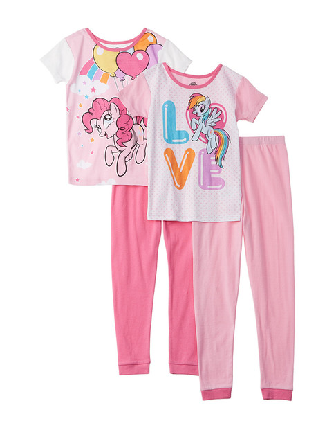 Character Sleepwear My Little Pony 4pc Pajama Set~1511134977