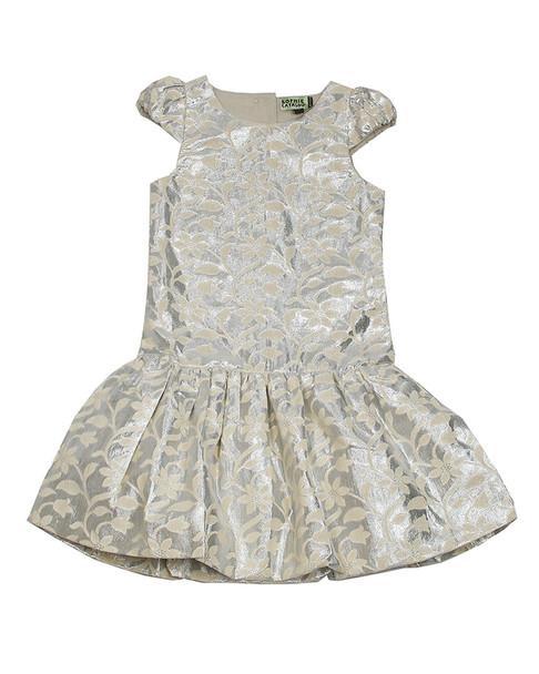 Sophie Catalou Drop-Waist Brocade Dress~1511289557