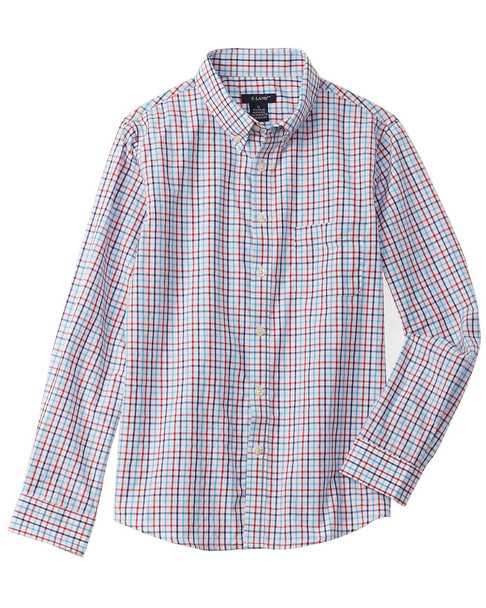 E-Land Kids Plaid Woven Shirt~1511744645