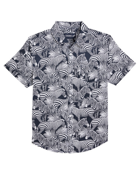 Trunks Surf & Swim Co. Tropical Zebra Shirt~1511875010