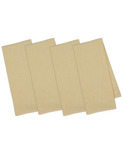 Design Imports Set of 4 Snapdragon Diamond Mosaic Dish Towels~30108185650000