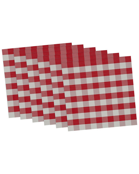 Design Imports Set of 6 Tango Checkers Placemats~30108192730000