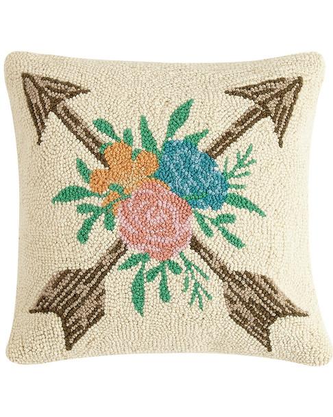 Peking Handicraft Floral Arrow Pillow~30300925830000