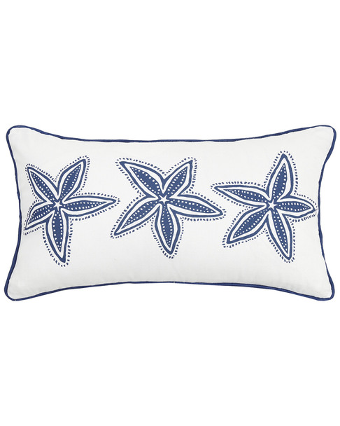 Peking Handicraft Navy Starfish Lumbar Pr Pillow~30305902570000