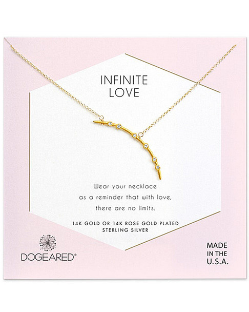 Dogeared 14K Over Silver Crystal Necklace~60301692510000