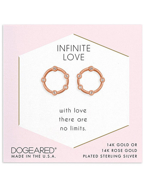 Dogeared 14K Rose Gold Over Silver Crystal Studs~60301692520000