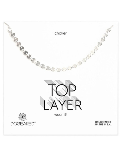 Dogeared Silver Choker Necklace~60301692560000