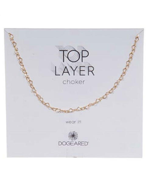 Dogeared 14K Over Silver Choker Necklace~60301692580000